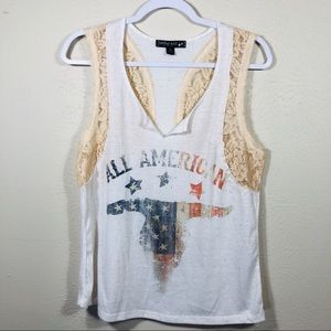 Living Doll Lace Tank Top